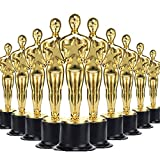 36 Pack Gold Oscar Trophies, everyone is a winner in their life when you holding these gold award trophies! Plastic statue shaped trophies in bulk with a beautiful glossy gold finish.Nobody can resist them. Gold Oscar Trophies measure 6 Inch perfect ...