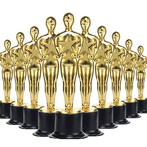 36 Pack Gold Award Trophies Party Favors,Gold Oscar Trophy for Award Ceremony,Theme Party,Birthday Party,Movie Night,Classroom Prize,Classroom Prize,Office Competition,for Boys Girls Teens and Adults