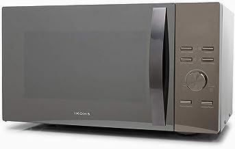 IKOHS Microondas HW800M Espejo - Microondas, 800W,Capacidad de 23L, 3 Niveles de Potencia, Temporizador hasta 30 minutos, Menú Automático 7, Cocción Multifrecuencia, Dispone de Reloj Digital