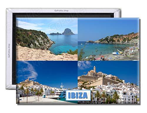 GoPukka - Ibiza España - Imán para Nevera Recuerdo, plástico, Standard: 70x45mm