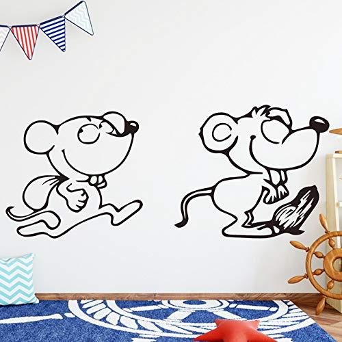 Wanddecoratie, wanddecoratie, rubber, grappige muismat, creatief, afneembaar, schattige kinderkamer