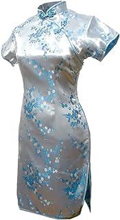 فستان سهرة صيني قصير زهري أزرق فاتح من 7Fairy Cheongsam