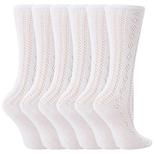 David James Mädchen Socken Weiß Weiß