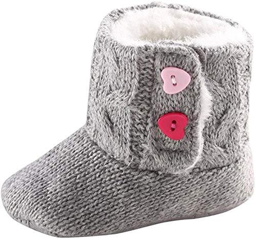 Fossen Invierno Botas Bebe Niña Cálidas Zapatos de algodón Botas de Nieve (0-6 Meses, Gris)