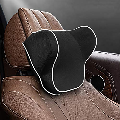 Car Neck Pillow, Neck Pillow 100% Pure Memory Foam and Ergonomic Design,Designed to Relieve Neck Pain and Muscle Tension