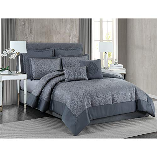 5th Avenue Lux Coventry Luxury 7 Piece Comforter Set, Queen