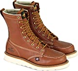 Thorogood 804-4208 Men's American Heritage 8' Moc Toe, MAXwear Wedge Safety Toe, Tobacco Oil-Tanned - 7 D US