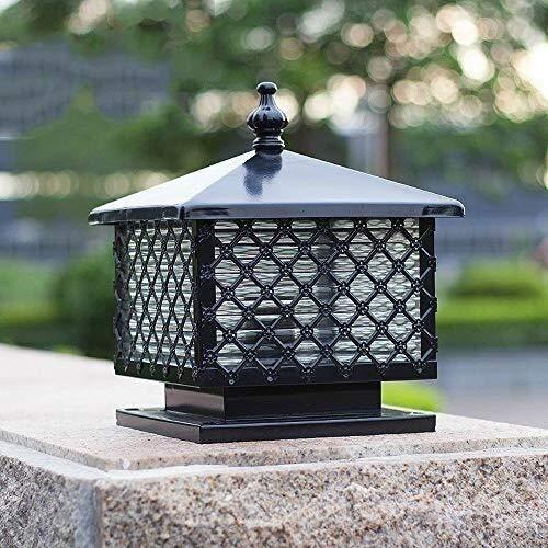 ZSMLB Lámparas de Pared para Exteriores Lámpara de jardín para Exteriores Lámpara de Poste, lámpara de Pilar Exterior Tradicional Lámpara de Columna de Aluminio antioxidante Impermeable Europea Lá