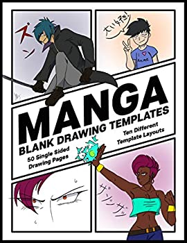 Manga Blank Drawing Templates  Ten Different Template Layouts  Single-Sided Drawing Comic Panel Pages