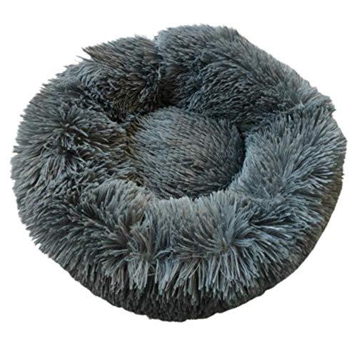 Rotagrod Cama de relleno de algodón PP de felpa cálida para mascotas cómoda alfombrilla de suministros para perros y gatos-dark_gray_M_France