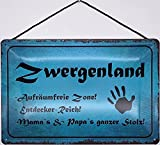 Blechschild Blechemma - Cordón (30 x 20 cm), diseño con texto en alemán