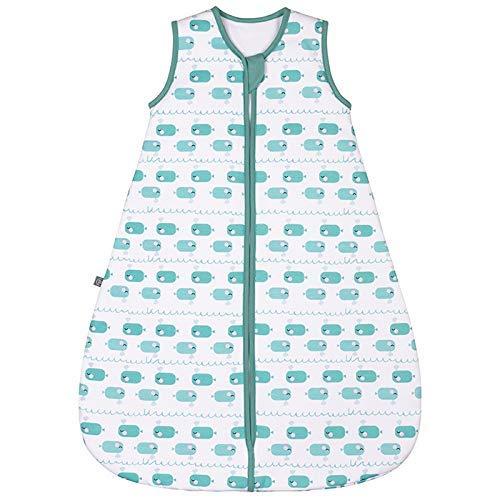 emma & noah Premium Baby Schlafsack, Flauschig Weich, Bequem & Atmungsaktiv, 100% natürliche Baumwolle, Großzügige Bewegungsfreiheit, 2.5 TOG (Wal Blau, 9-36 Monate / 90 cm)