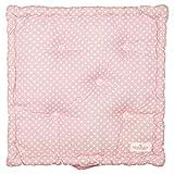 GreenGate - Kissen - Sitzkissen - rosa - weiße Punkte - Baumwolle - 50 x 50 cm