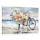 FajerminArt Canvas Print Modern Picture Wall Art - Pinturas abstractas en lienzo adecuadas para sala de estar, dormitorio, listo para colgar, tamaño de marco estirable 60x90cm (marco de madera)