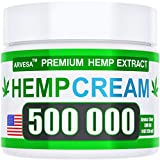 Hemp Pain Relief Cream - 500,000 - Natural Hemp Extract Relieves Inflammation, Knee, Muscle, Joint & Back Pain - Contains Arnica, MSM & EMU Oil - Non-GMO - Made in USA