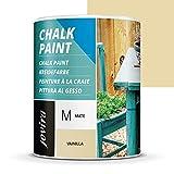 PINTURA EFECTO TIZA,CHALK PAINT, AL AGUA MATE, Renueva tus muebles con creatividad. (750 ml, VAINILLA)