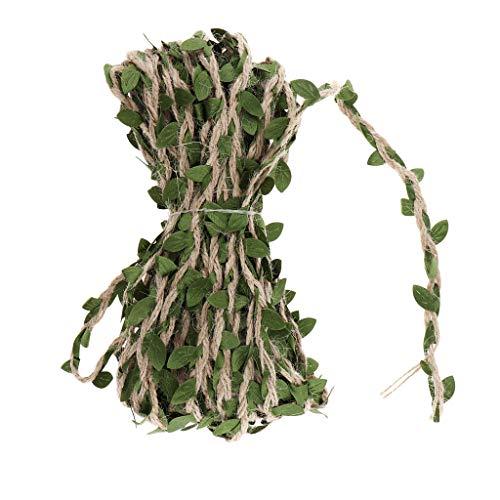 Blesiya 10 Meter 5mm Kunstmatige Guirlande Wijnstok Bloemenslinger Opknoping Planten Balkon Ornament Bruiloft Decor - groen