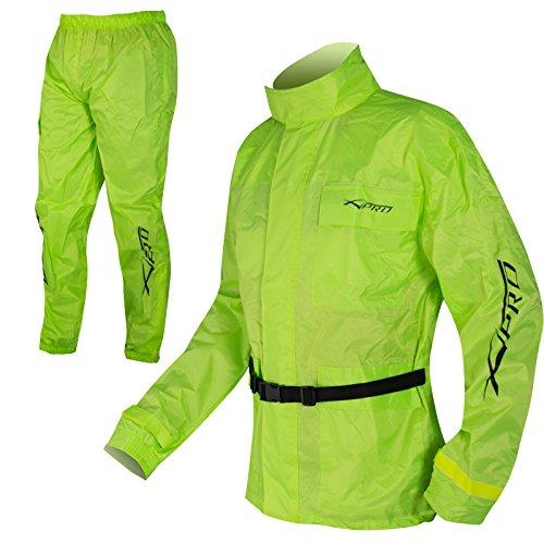 A-Pro Tuta Impermeabile Giacca Pantaloni Antipioggia alta Visibilità FLUO L