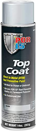 POR-15 46018 Top Coat Silver Spray Paint 15 fl. oz.