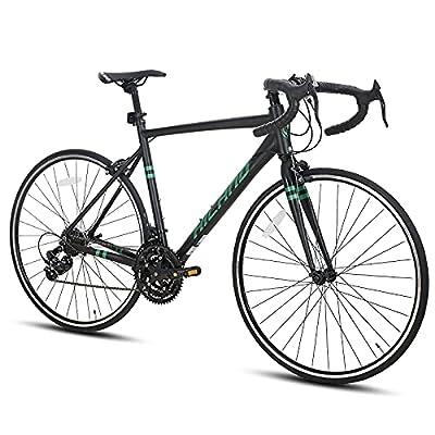 Hiland Road Bike 700c Racing Bike Aluminum City Commuter Bicycle with 21 Speeds Black 57CM