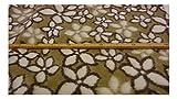 Fabrics-City Modello di Fiori di Lana Cotta Tessuto di Loden Follato Greggio, 3024