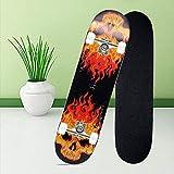 Tavola da skateboard, in legno d'acero, 80,6 x 20 cm, professionale, per adulti, ragazzi, bambini, bambine, principianti (yellow)