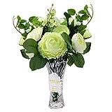 Love Bloom Ranunculos Artificiales Blancos - Flor Decoracion con Florero - Asiaticus Flor ...