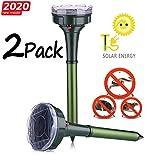 7. Dekugaa Solar Snake Repellent for Outdoor, Gopher Repellent Ultrasonic, Get Rid of Snake Mole Gophers for Outdoor Garden Yard 2 Pack