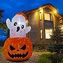 Parasaka 5 Feet Halloween Inflatable Pumpkin Ghost