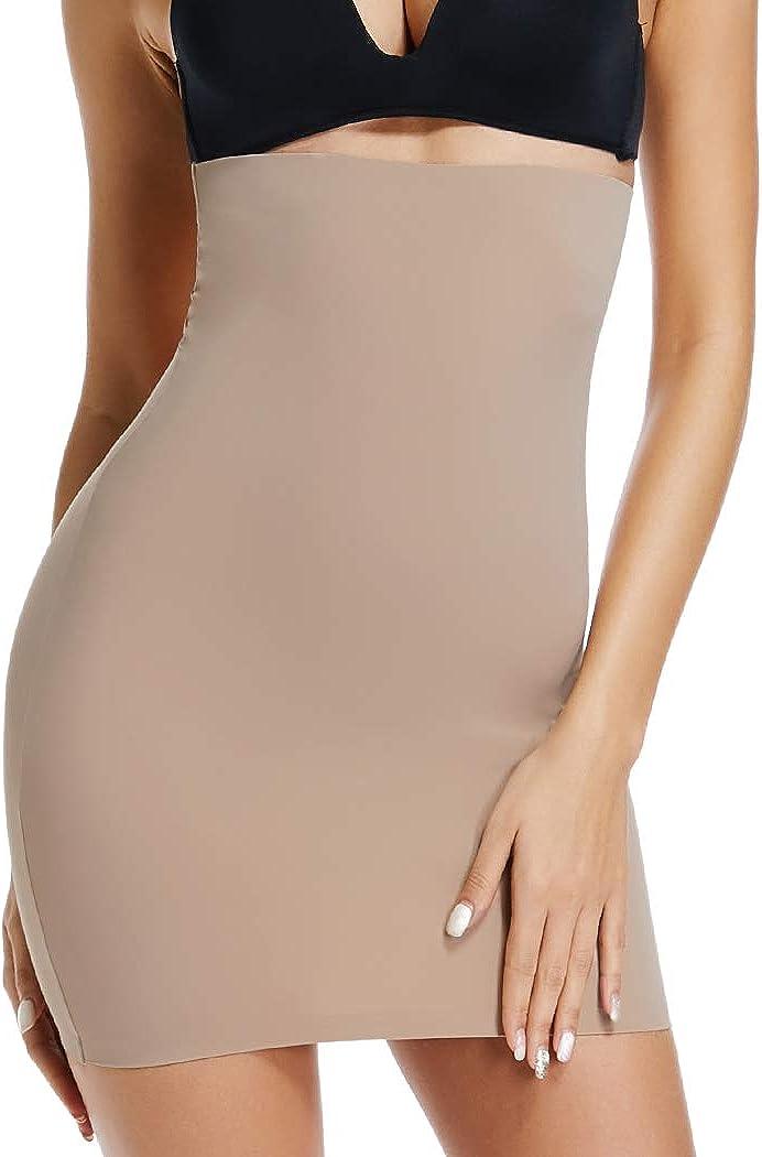 JOYSHAPER Half Slips for Women Under Dresses High Waist Tummy Control Shapewear Dress Slip Body Shaper Skirt