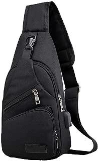 Crossbody Bag Shoulder Bag Oxford Cloth UBS Charging Chest Bag Fashionable Canvas Messenger Bag Sling Bag