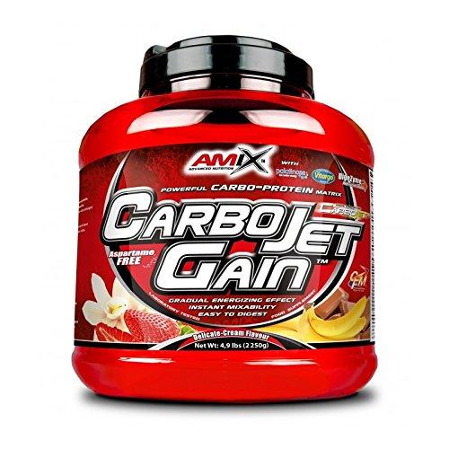 AMIX - Proteína en Polvo Carbojet Gain - Suplemento con Hidratos de Carbono de Alta Calidad -Proteína para Ganar Masa Muscular - Ideal para Atletas de Élite - Sabor Chocolate - 4 KG
