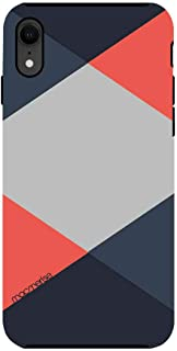 Macmerise IPCIXRTMI0434 Criss Cross Coral - Tough Case for iPhone XR - Multicolor (Pack of1)