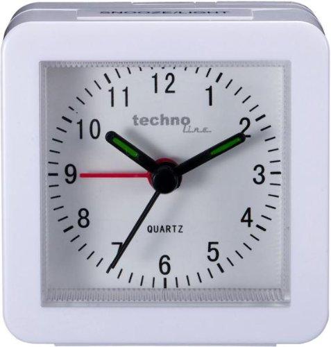 Technoline Quarzwecker Modell SC, weiß, analog, klassisch