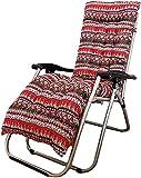 LSWY Cojines de la tumbona del jardín, set de la silla mecedora, el conjunto de cojines de la silla de mecedora, las almohadillas de la silla reclinada de repuesto Cojín salón, 48 × 155 cm / 18.8 × 61