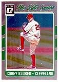 Corey Kluber baseball card (Cleveland Indians) 2017 Donruss Optic Chrome #DES18 Elite Series Insert Edition