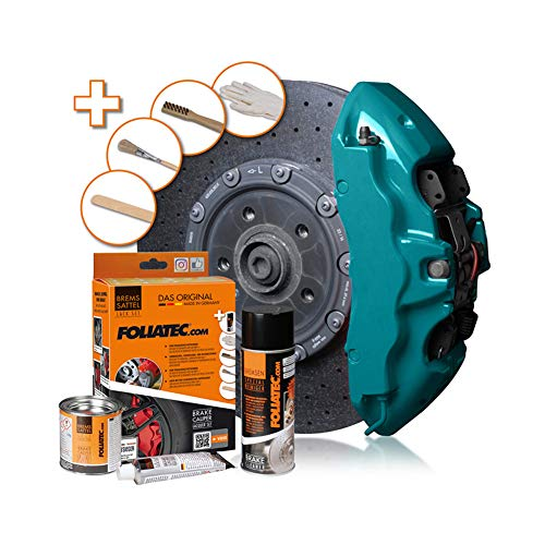Foliatec F2155 Bremssattel-Lack-Miami Beach blau glänzend-3 Komponenten