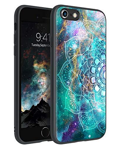 BENTOBEN Funda iPhone 6, Funda iPhone 6s, Carcasa Cover Ultra Delgada Mandala Luminosa Resistente Silicona Suave PC Dura Protectora Cuero Completa Fundas para iPhone 6/iPhone 6s-Mandala