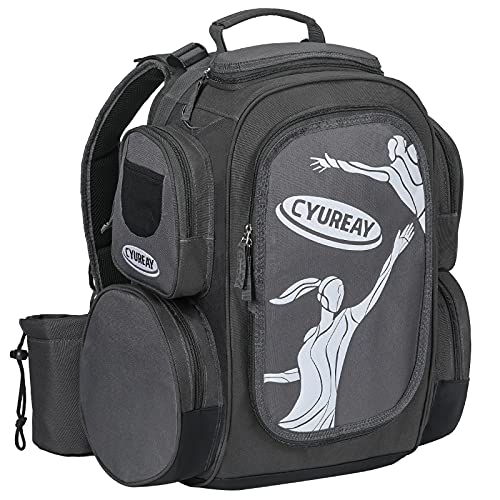 CYUREAY Disc Golf Bag, Lightweight Frisbee Golf Bag with 18+ Disc Capacity, Durable Introductory Disc Golf Backpack for Beginners and Casual Disc Golf Rounds
