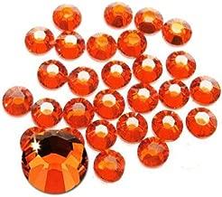 Jollin Glue Fix Flatback Rhinestones Glass Diamantes Gems for Nail Art (ss16 1440pcs, Lt Siam)