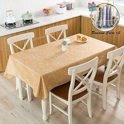 Fansu Mantel para Mesa Rectangular Bohemia Estilo Exótico,Antimanchas Impermeable Lavable Mantel - Adecuado para Decorar Cocina Comedor Salón Restaurante (60x60cm,Tótem De Color Caqui)