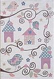 Pergamon Softstar Kids - Alfombra Infantil y de Juego - Motivo de Animales Color Pastel - 5 tamaños