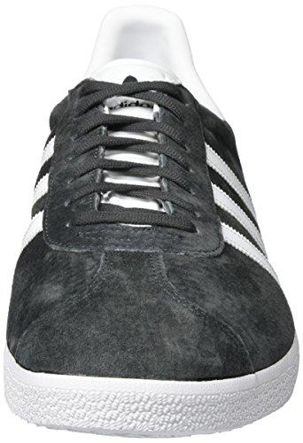 adidas Gazelle, Zapatillas de Deporte Unisex Adulto, Gris (DGH Solid Grey/White/Gold Metallic), 42 EU