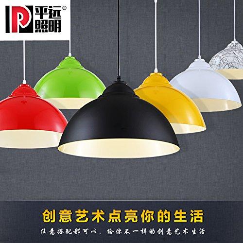 Moderna lampada pendente Lampadari minimalista lampadari Single Head Office Coffee Bar e Ristorante Chandelier lampadario alloggiamento lampada ,39*23cm, industriale tuta vento
