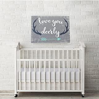WOOD DECOR Love You Deerly Wood Sign