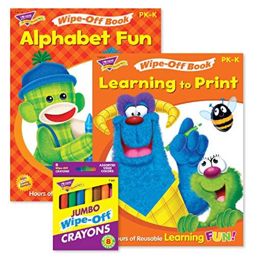 TREND ENTERPRISES, INC. ABCs & Printing Reusable Books & Crayons