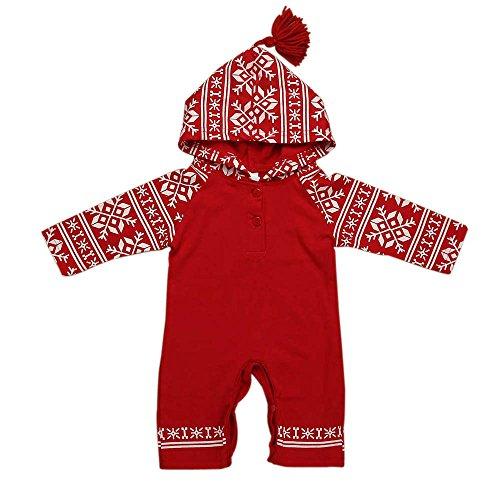 Ouneed® 6-24mois Bebe Noel Costume Pyjama Conbinaison Vetement de Noel (18M)