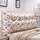 Tokyia Cabecero de cama de doble cintura suave Tatami cojín (color: P, tamaño: 135 cm)