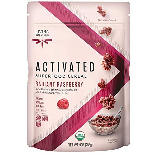 Living Intentions Organic Superfood Cereal - Radiant Raspberry – NonGMO – Gluten Free – Vegan – Paleo – Kosher – 9 Oz