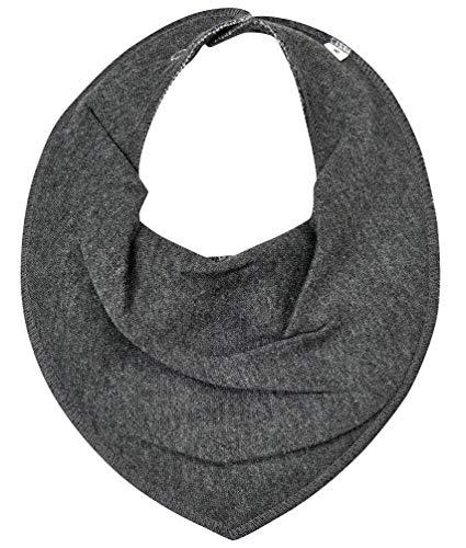 1402 Scarf bib -dribble tight -solid 121 Dark grey melange